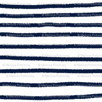 Sketchy Stripes // Navy