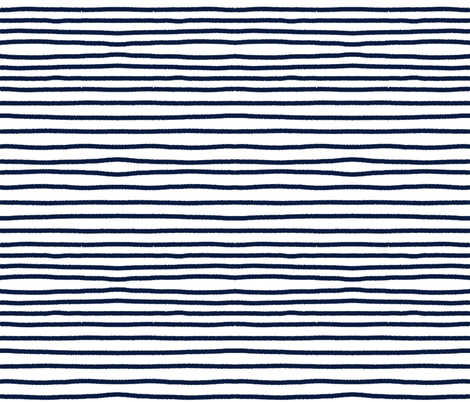 Sketchy Stripes // Navy  fabric by theartwerks on Spoonflower - custom fabric