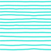Sketchy Stripes //Bright Turquoise