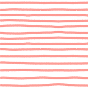 Sketchy Stripes // Coral Orange