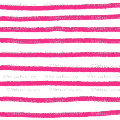 Sketchy Stripes // Medium Hot Pink