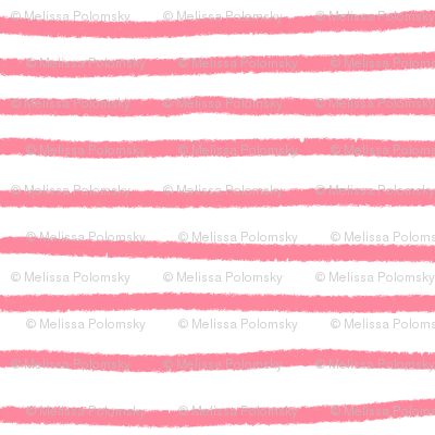 Sketchy Stripes // Coral Pink