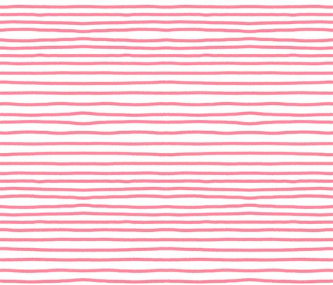 Sketchy Stripes // Coral Pink fabric by theartwerks on Spoonflower - custom fabric
