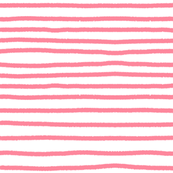 Sketchy Stripes // Coral Pink