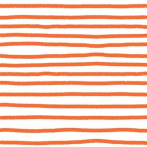 Sketchy Stripes // Bright Medium Orange