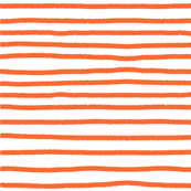 Sketchy Stripes // Bright Medium Orange