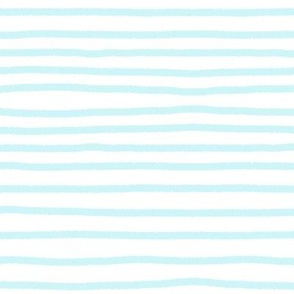 Sketchy Stripes // Light Icy Blue