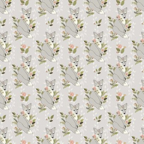 FlowerFox, Vine Bkgd - PaleMushroom