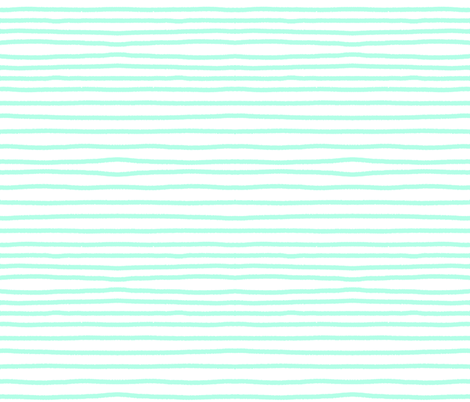 Sketchy Stripes // Minty Green Blue fabric by theartwerks on Spoonflower - custom fabric