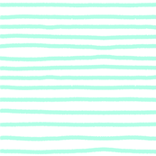 Sketchy Stripes // Minty Green Blue