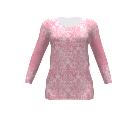 Lite-Pink Damask Small