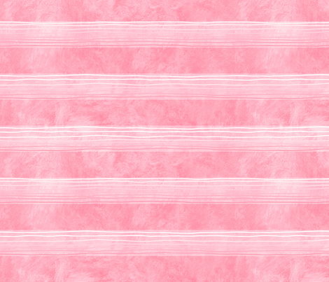 Pink Hand-Drawn Stripes Med fabric by piper_&_paige on Spoonflower - custom fabric