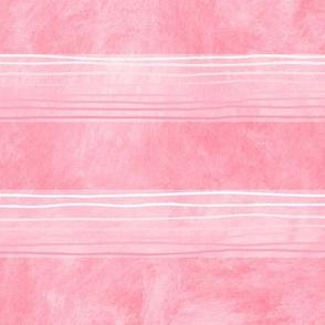 Pink Hand-Drawn Stripes Med