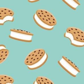 cookie sandwich ice-cream - novelty fabric
