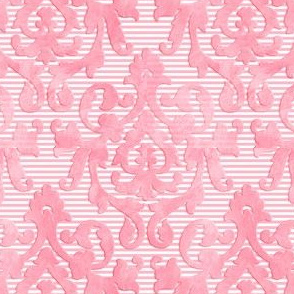 Lite-Pink Damask X-Small