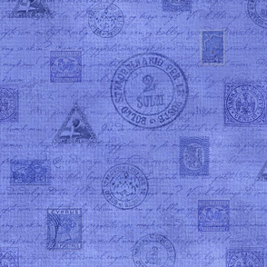 Stamps Blue Large