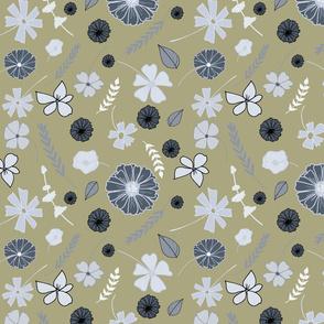 Grey_gold_Tossed Floral