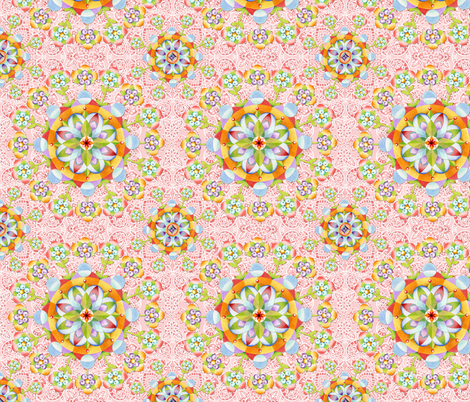 Pink Paisley Flower Garden fabric by patriciasheadesigns on Spoonflower - custom fabric