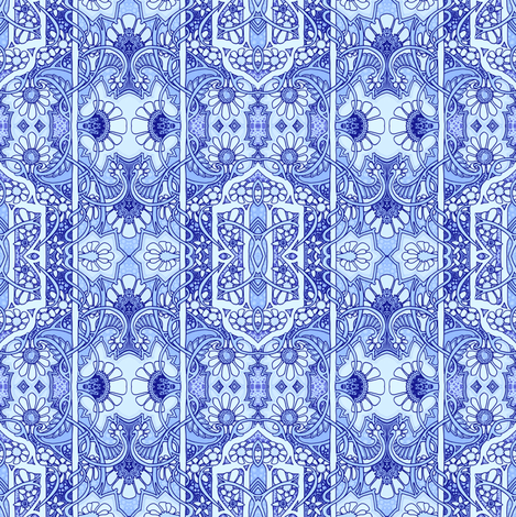 A Very Blue Victorian Experience fabric by edsel2084 on Spoonflower - custom fabric