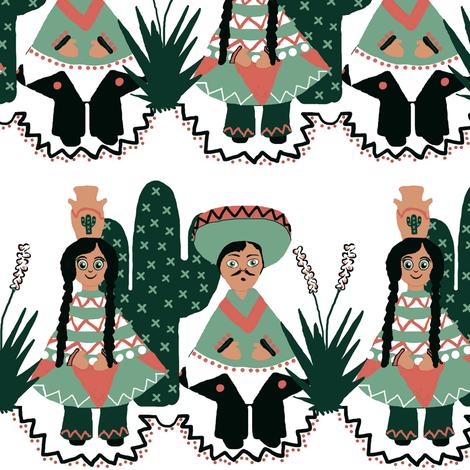 Buenos Amigos fabric by franbail on Spoonflower - custom fabric
