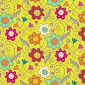 Rcolorful_flower_patch_purple_on_chartreuse_yellow_final150dpi_shop_thumb