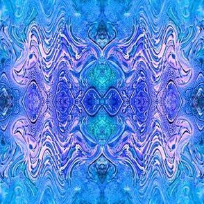 Turquoise Purple Glass