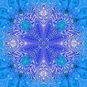 Turquoise Purple Glass Star
