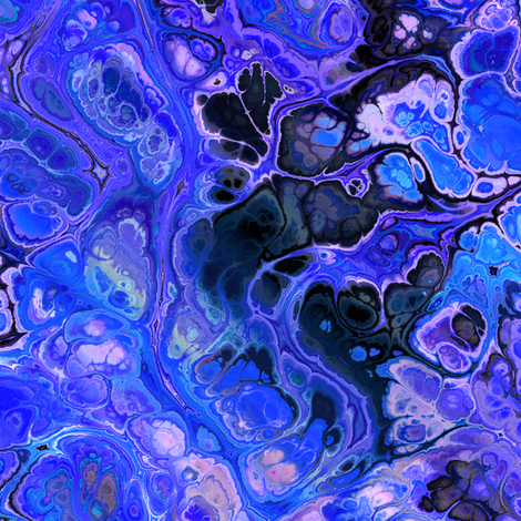 Turquoise Purple Marbled Abstract fabric by linda_baysinger_peck on Spoonflower - custom fabric