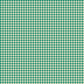 Quarter Inch Turquoise Gingham