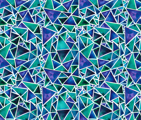 Purple and Green Geometric Triangles fabric by elena_o'neill_illustration_ on Spoonflower - custom fabric