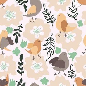 Flowers and Birdies