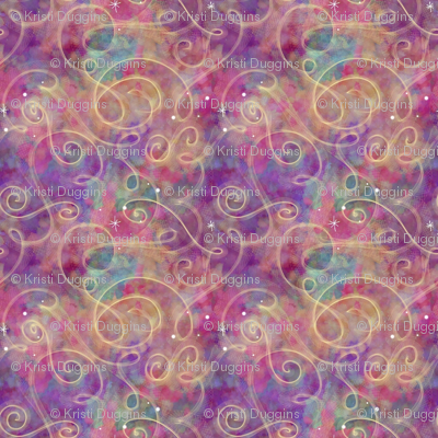 Project 330 | Watercolor Starfield | Raspberry Multicolor