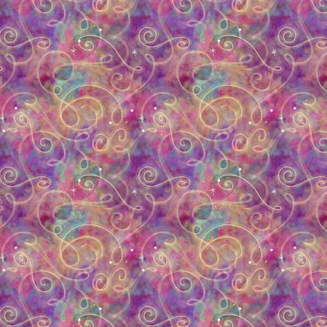 Project 330 | Watercolor Starfield | Raspberry Multicolor fabric by bohobear on Spoonflower - custom fabric