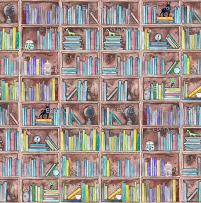 Watercolour Bookshelf