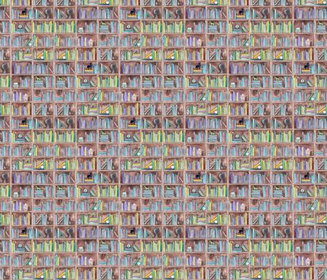 Watercolour Bookshelf fabric by elena_o'neill_illustration_ on Spoonflower - custom fabric