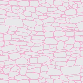 Stone wall in pink