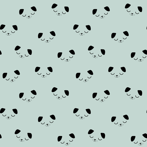 Puppies  Blue Mint fabric by kimsa on Spoonflower - custom fabric