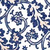 French Toile Blue