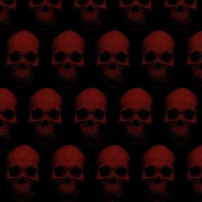red skulls on black