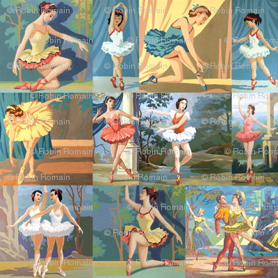 Paint By Number Ballerinas - medium