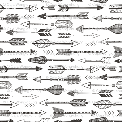 Arrows in Black&White Smaller & Rotated