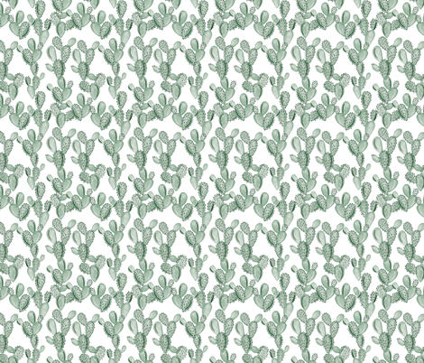 green paddle cactus // small fabric by ivieclothco on Spoonflower - custom fabric