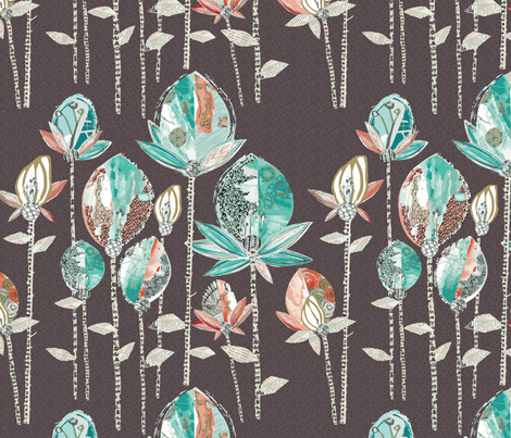 PAPER CUT FLORALS fabric by janemonteith on Spoonflower - custom fabric