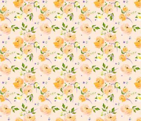"""12"""" You are Gold / Light Peach fabric by shopcabin on Spoonflower - custom fabric"""
