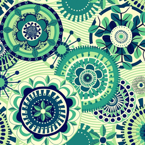 Folk Mandala_green_