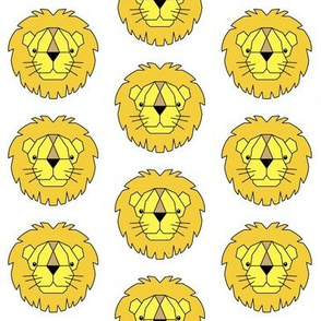 yellow and gold geometric lions