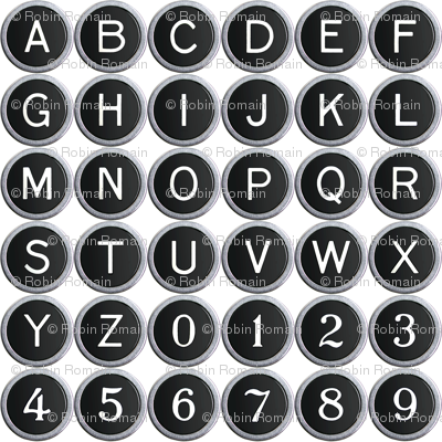 Old School Typewriter Keys - small