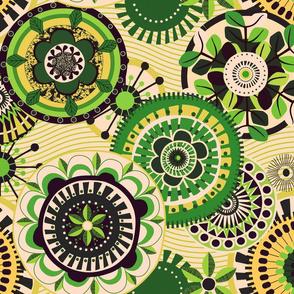 Folk Mandala_Vintage_Green