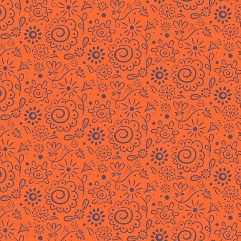 Rwild_floral_doodle_lilac_on_orange_final_150dpi_shop_preview
