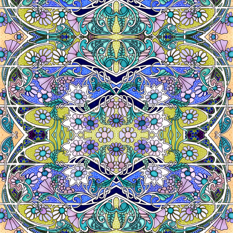Nouveau Meadow fabric by edsel2084 on Spoonflower - custom fabric